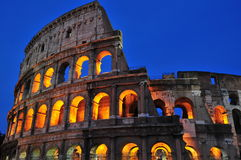 Roman nights (the Coliseum). A night image of the roman Coliseum being lit Stock Image