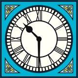 Roman Numeral Clock à Dix passés de moitié Photo libre de droits