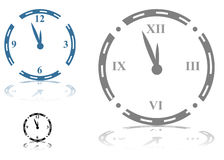 Roman Numeral Clock. An image of a Roman Numeral Clock - set royalty free illustration