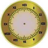 Roman Numeral Clock. A scalable vector illustration of a gold Roman Numeral Clock Stock Photo