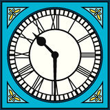 Roman Numeral Clock na metade após dez ilustração stock