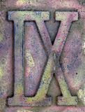 Roman Numeral Grunge. The Roman numerals one and ten in metal grunge royalty free stock images