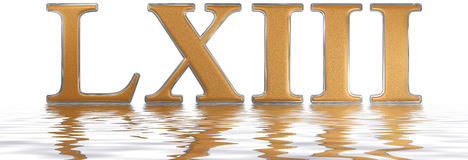Roman numeral LXIII, tres et sexaginta, 63, sixty three, reflect Royalty Free Stock Photos