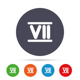 Roman numeral seven icon. Roman number seven sign. Royalty Free Stock Images