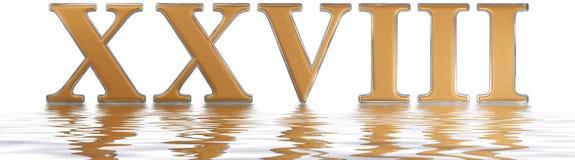 Roman numeral XXVIII, octo et viginti, 28, twenty eight, reflect Stock Photo