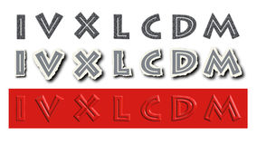 Roman numerals Royalty Free Stock Photos