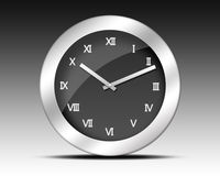 Roman Numerals Clock Royalty Free Stock Photography