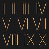 Roman numerals Stock Images