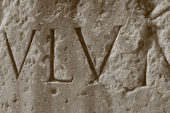 Roman Numerals, Roman Coliseum Royalty Free Stock Photos
