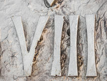 Roman numerals. Sculpture showing the number stock photos