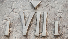 Roman numerals. Sculpture showing the number stock images