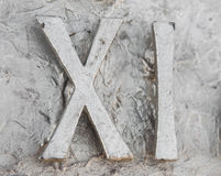 Roman numerals. Sculpture showing the number stock photo