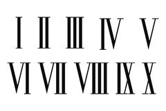 Roman numerals set. Roman numerals set isolated on white background Royalty Free Stock Images