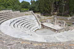 Roman Odeion at Kos island in Greece Stock Images