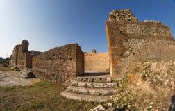 Roman Odeon in ancient Nikopolis Preveza Greece. Roman Odeon in area of ancient Nikopolis Preveza Greece royalty free stock photos