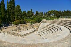 Roman Odeon av Kos, Dodecanese arkivbild