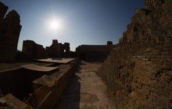 Roman Odeon i forntida Nikopolis Preveza Grekland royaltyfria bilder