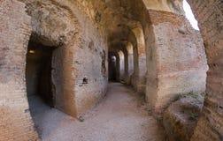 Roman Odeon i forntida Nikopolis Preveza Grekland royaltyfri foto