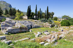 Roman Odeum of Ancient Corinth, Peloponnese, Greece royalty free stock images