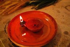 Roman oil lamp Stock Photo