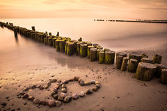 Roman på stranden Arkivfoton