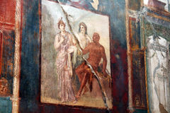 Roman painting. A ancient roman painting at ercolano in italy Royalty Free Stock Image