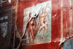 Roman painting. A ancient roman painting at ercolano in italy Stock Images