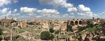 Roman Panorama van het Forum Royalty-vrije Stock Afbeeldingen