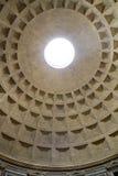 Roman Pantheon Eye. Upward view of the Roman Pantheon Eye Stock Photography