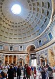 Roman Pantheon's dome and the opening at the top Royalty Free Stock Images