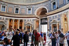 Roman Pantheon's dome and the opening at the top Royalty Free Stock Photos