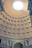 Roman Pantheon's dome , Rome Italy Stock Photo