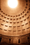 Roman Pantheon's dome , Rome Italy Stock Images
