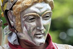 Roman parade mask royalty free stock images