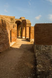 Roman path and buildings at Ostia Antica Italy Stock Image