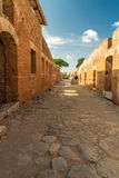 Roman path at Ostia Antica Italy Stock Images