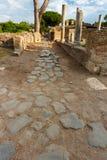 Roman path at Ostia Antica Italy Royalty Free Stock Photography
