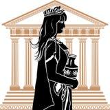Roman patricische vrouw Stock Foto