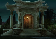 Roman Pavilion 3d CG Arkivfoton