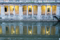 Roman Pillar Reflections Royaltyfri Fotografi