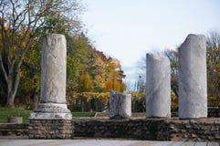 Roman pillars. Pillars in a roman theatre, Lyon, France Stock Photo