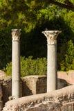 Roman pillars at Ostia Antica Italy Royalty Free Stock Images