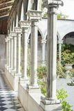 Roman pillars. Vintage of Roman concrete pillars Stock Images