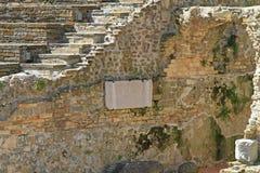 Roman Plaque Trieste arkivbild