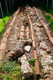 Roman plumbing excavation in Gonio fortress Stock Photography