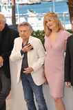 Roman Polanski & Emmanuelle Seigner Stock Photos