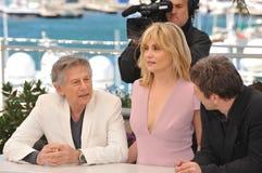 Roman Polanski & Emmanuelle Seigner & Mathieu Amalric Stock Image