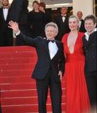 Roman Polanski & Emmanuelle Seigner & Mathieu Amalric Stock Images