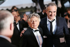 Roman Polanski and Olivier Assayas. Attend the `Based On A True Story` screening during the 70th annual Cannes Film Festival at Palais des Festivals on May 27 Stock Images