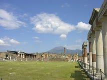 Roman Pompeii ruins after the eruption of Vesuvius Stock Photo